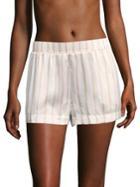 Asceno Striped Silk Pajama Shorts