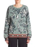Chloe Floral Jacquard Sweater