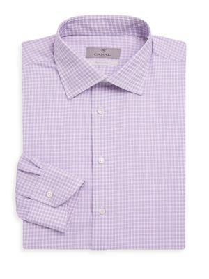 Canali Checked Dress Shirt