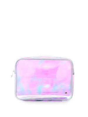 Stephanie Johnson Miami White Jumbo Zip Cosmetic Bag