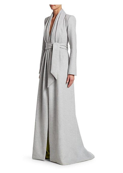 Brandon Maxwell Belted Wool Coat