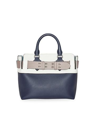 Burberry Small Colorblock Leather Satchel
