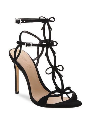 Schutz Moah T-strap Suede Sandals