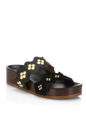 Chloe Lauren Leather Slides
