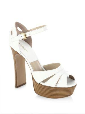 Michael Kors Collection Smith Runway Leather Platform Sandals