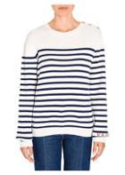 Valentino Striped Cashmere Knit Sweater