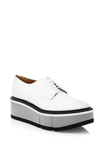 Clergerie Barbara Flatform Leather Oxfords