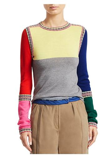 Rosie Assoulin Ottoman-knit Crewneck Wool Sweater