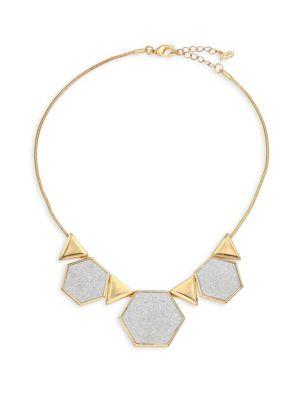 Abs By Allen Schwartz Jewelry Rebel Soul Geo Frontal Necklace