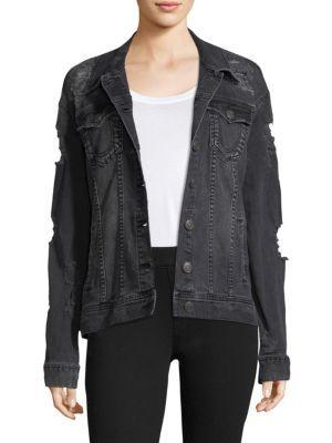 True Religion Distressed Denim Jacket