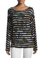 Etro Striped Jersey Top