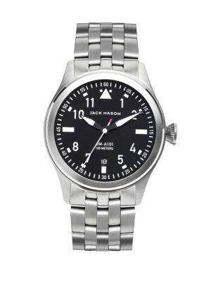 Jack Mason Aviation Stainless Steel Bracelet Watch