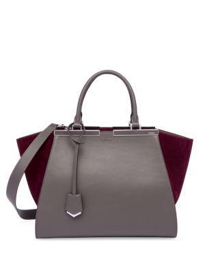 Fendi 3 Jours Leather & Suede Shopper