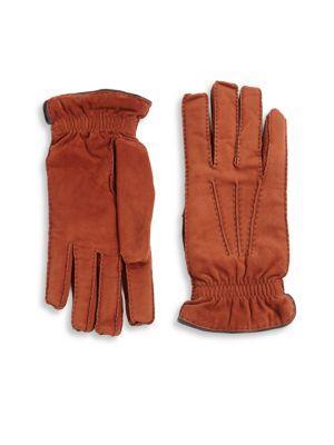 Brunello Cucinelli Cashmere Lined Suede Gloves