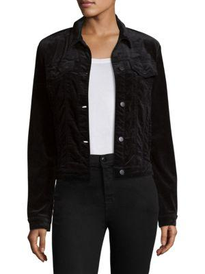 J Brand Velvet Slim Crop Jacket