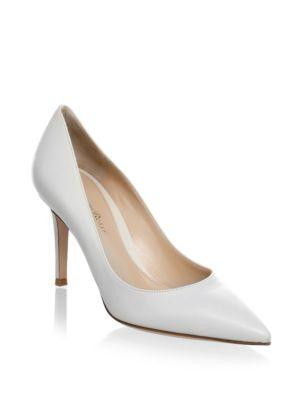 Gianvito Rossi Point Toe Leather Pumps
