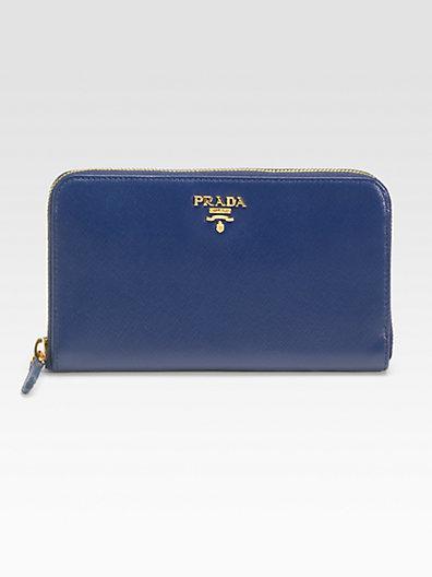 Prada Saffiano Metal Oro Wallet