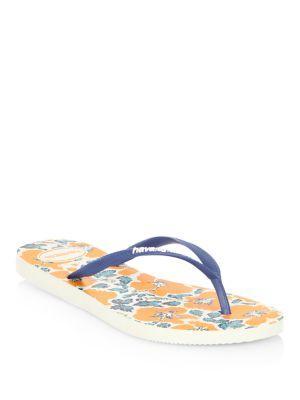 Havaianas Slim Floral-print Rubber Flip Flops