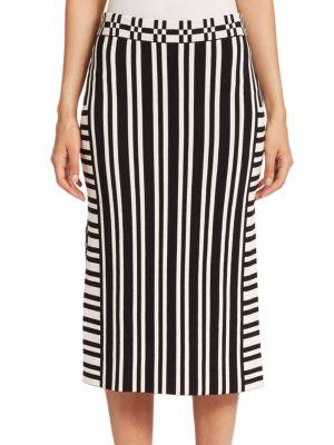 Tanya Taylor Camilla Striped Skirt
