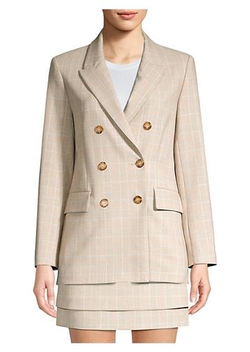 Maje Check Double-breasted Jacket