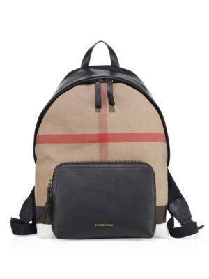 Burberry Canvas London Checkered Backpack