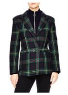 Sandro Framboise Plaid Wool-blend Blazer