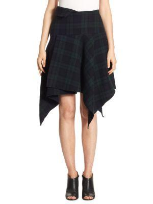 Nocturne 22 Asymmetric Wool Skirt
