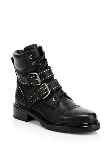 Frye Samantha Studded Buckle Hiker Boots