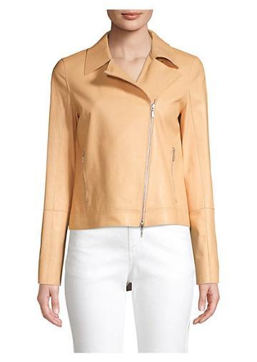 Lafayette 148 New York Marykate Glazed Leather Jacket