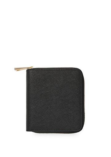 Tde Leather Zip Wallet