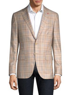 Isaia Plaid Notch Jacket