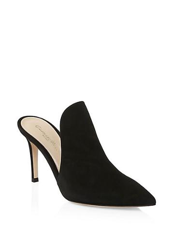 Jimmy Choo Suede Point-toe Mules
