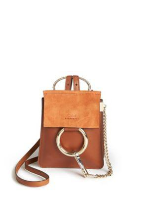 Chlo Faye Mini Leather & Suede Bracelet Crossbody Bag