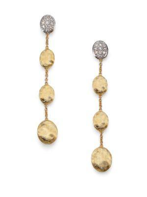 Marco Bicego Siviglia Diamond & 18k Yellow Gold Drop Earrings