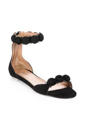 Alaia Bomb Suede Ankle-strap Sandals