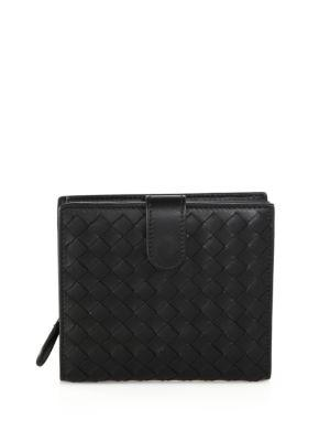 Bottega Veneta Woven Leather Bi-fold Wallet