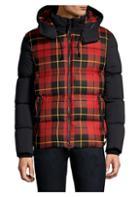 Mackage Mixed Media Plaid Down Puffer Jacket