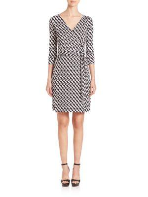 Diane Von Furstenberg Chain Link Wrap Dress