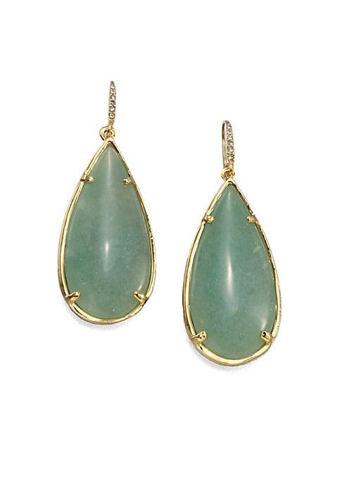 Abs By Allen Schwartz Jewelry Teardrop Resin & Stone Earrings