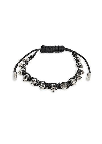 Alexander Mcqueen Skull Braided Friendship Bracelet