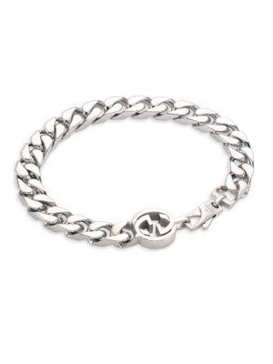 Gucci Sterling Silver Interlocked G Bracelet