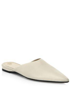 The Row Pointed Leather Mules