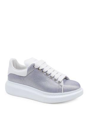 Alexander Mcqueen Metallic Mesh Sneakers