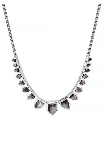 John Hardy Legends 6.9mm-14.6mm Grey Mother Of Pearl & Silver Necklace