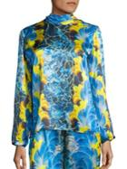 Romance Was Born Rocco Plume Silk Blouse