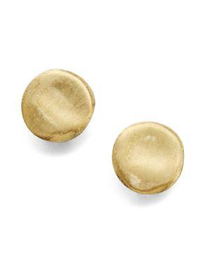 Marco Bicego Jaipur 18k Yellow Gold Button Earrings