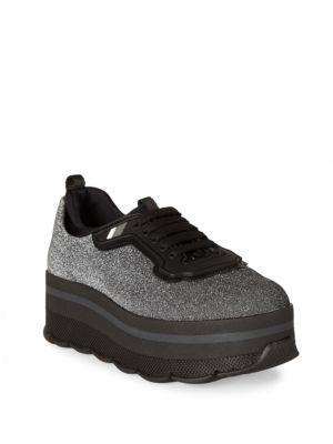 Prada Sparkle Platform Sneakers