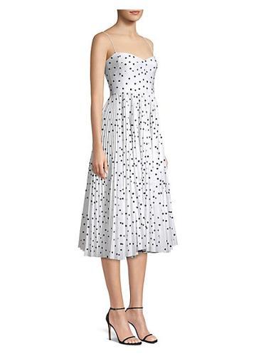 Khaite Pamela Polka Dot Fit-&-flare Dress