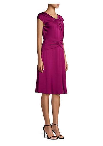Milly Tatiana Stretch Silk A-line Dress