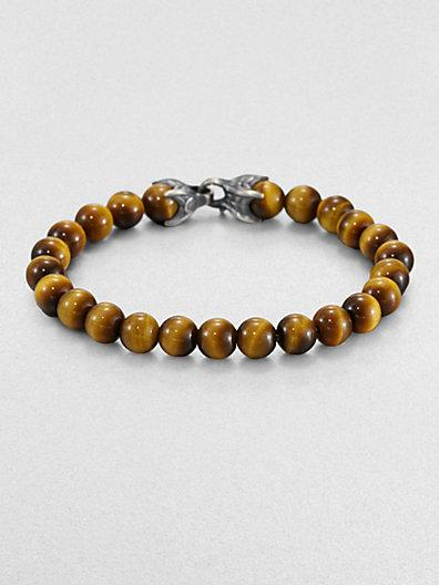 David Yurman Spiritual Bead Tiger's Eye Bracelet